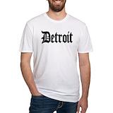 Detroit michigan Fitted Light T-Shirts