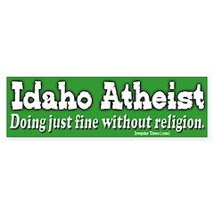 Idaho Atheist Bumper Bumper Sticker
