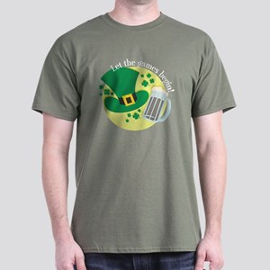 St. Paddy's Day- Let the Games Begin! Dark T-Shirt