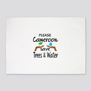 Please Cameroon Save Trees & Water 5'x7'Area Rug