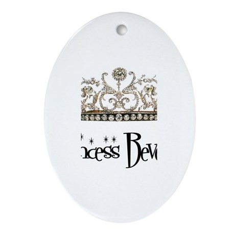 Princess Beverly Oval Ornament