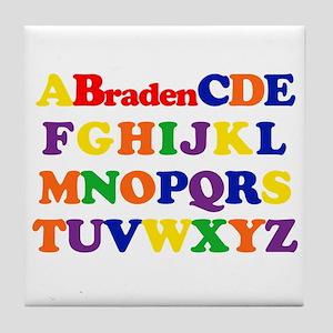 Braden - Alphabet Tile Coaster
