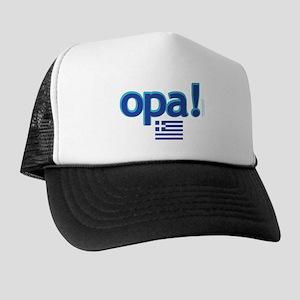 Greek Flag Opa1 Trucker Hat