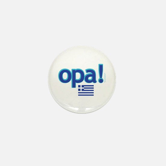 Greek Flag Opa1.png Mini Button (10 Pack)