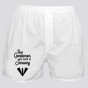 Real Gentlemen are born in January C5 Boxer Shorts