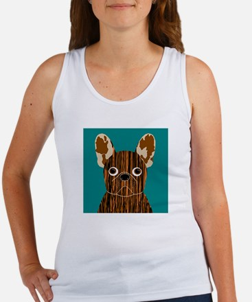 Frenchy (Brindle) Women's Tank Top