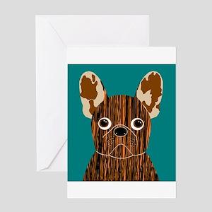 Frenchy (Brindle) Greeting Card