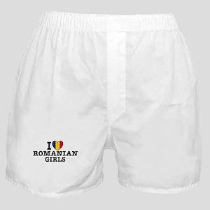 I Love Romanian Girls Boxer Shorts