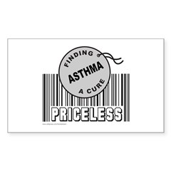 ASTHMA FINDING A CURE Rectangle Decal