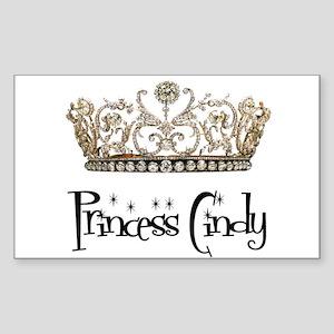 Princess Cindy Rectangle Sticker