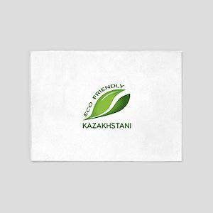 Eco Friendly Kazakhstani County Des 5'x7'Area Rug