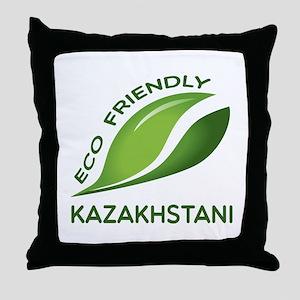 Eco Friendly Kazakhstani County Desig Throw Pillow