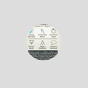 Capricorn Characteristics Mini Button