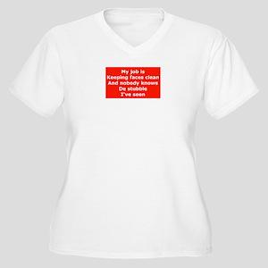 Burma Shave Slogan Women's Plus Size V-Neck T-Shir