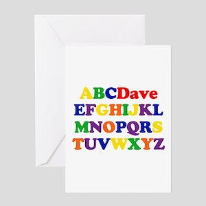 Dave - Alphabet Greeting Card