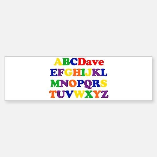 Dave - Alphabet Bumper Bumper Bumper Sticker