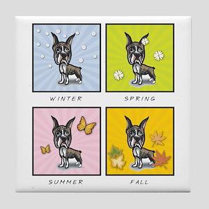 4 Seasons Boxer Tile Coaster