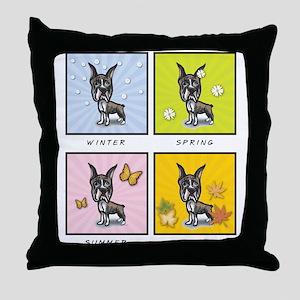 4 Seasons Boxer Throw Pillow