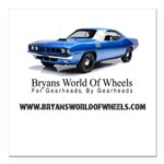 """Official Bryans World Of Square Car Magnet 3"""""""