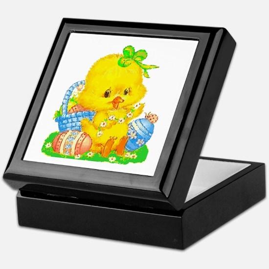 Vintage Cute Easter Duckling And Egg Keepsake Box