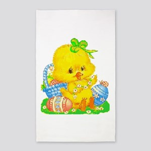 Vintage Cute Easter Duckling And Egg R Area Rug