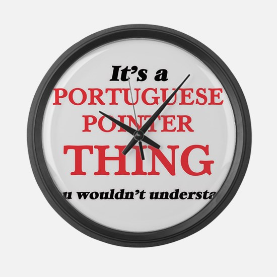 It's a Portuguese Pointer thi Large Wall Clock