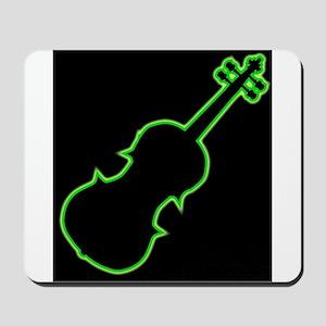 Fiddle Neon Outline Mousepad