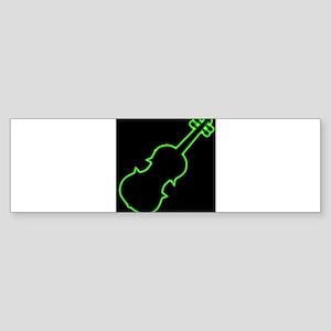 Fiddle Neon Outline Bumper Sticker