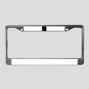 Fiddle Neon Outline License Plate Frame