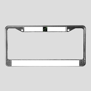 Fiddle Neon Outline License Plate Frame
