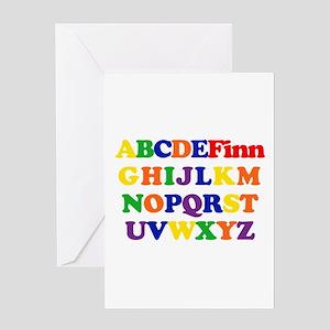 Finn - Alphabet Greeting Card