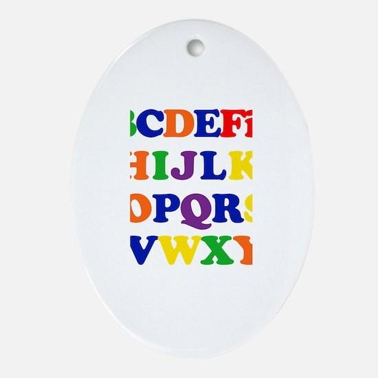 Finn - Alphabet Oval Ornament
