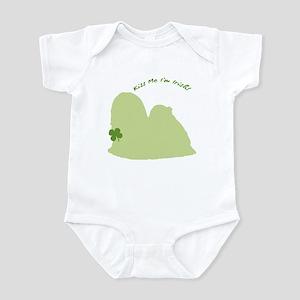 Lhasa Apso... Kiss Me I'm Irish! Infant Bodysuit