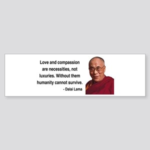 Dalai Lama 15 Bumper Sticker
