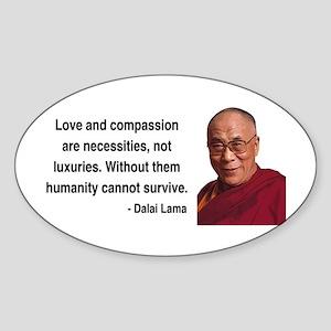 Dalai Lama 15 Oval Sticker