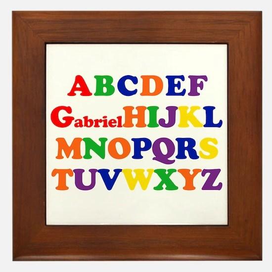 Gabriel - Alphabet Framed Tile