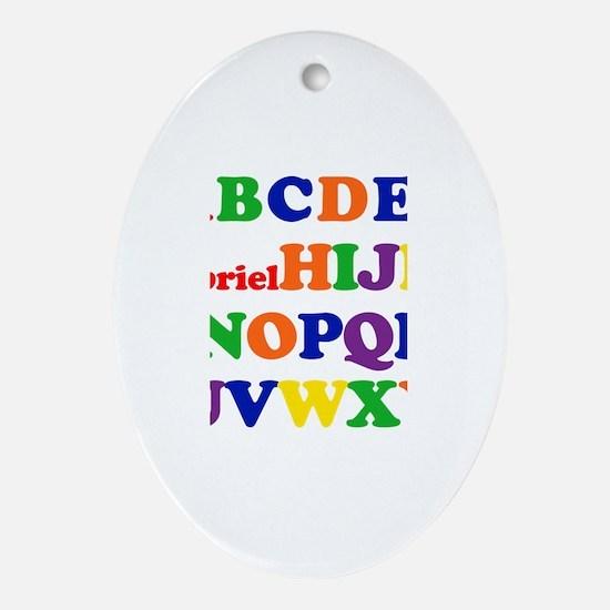 Gabriel - Alphabet Oval Ornament