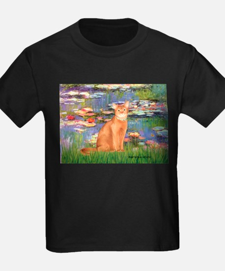 Lilies & Red Abyssinian cat (S) T