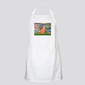 Lilies & Red Abyssinian cat (S) BBQ Apron