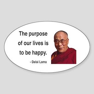 Dalai Lama 17 Oval Sticker