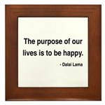 Dalai Lama 17 Framed Tile