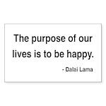 Dalai Lama 17 Rectangle Sticker