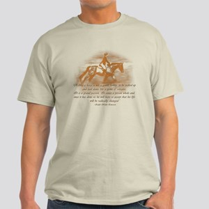 Riding Is A Passion Equestrian Light T-Shirt
