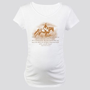 Riding Is A Passion Equestrian Maternity T-Shirt