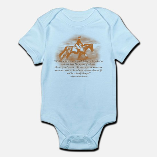 Riding Is A Passion Equestrian Infant Bodysuit