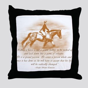 Riding Is A Passion Equestrian Throw Pillow