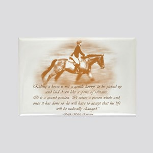 Riding Is A Passion Equestrian Rectangle Magnet
