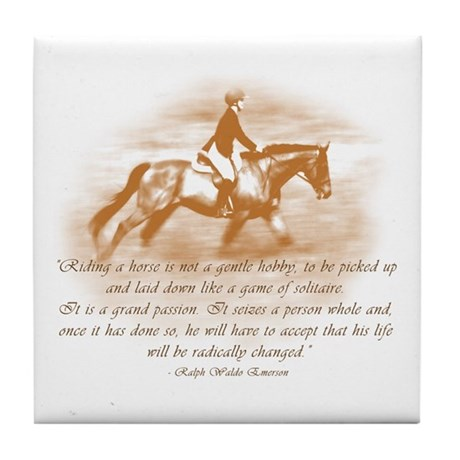 Riding Is A Passion Equestrian Tile Coaster