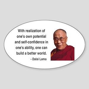 Dalai Lama 19 Oval Sticker