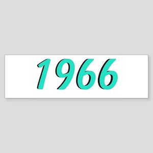 1966 Aqua Bumper Sticker